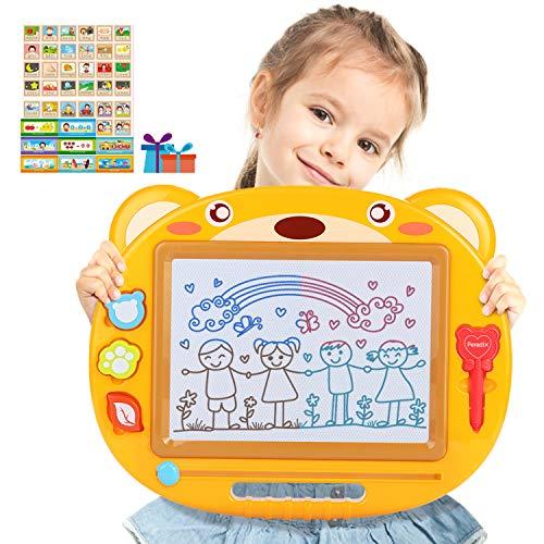 Peradix Lavagna Magnetica Tavolo da Disegno cancellabile Magica per Bambini Lavagna Doodle Un Anno 2...