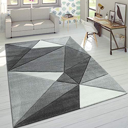 Paco Home Tappeto 3D Triangoli Pastello Trend Grigio, Dimensione:160x230 cm