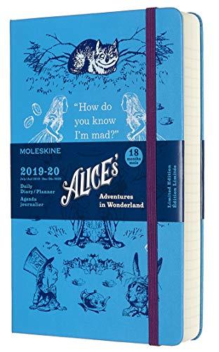 Moleskine Agenda Giornaliera 18 Mesi Alice in Wonderland in Edizione Limitata, Diario Accademico...