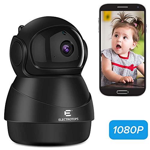 Telecamera IP WiFi 1080P, Interno/All'aperto telecamera di sicurezza con Visione notturna Motion Detection Audio a 2 vie Sicurezza domestica Sorveglianza Pan/Tilt/Zoom Monitorare per Bambino/Elder/Pet
