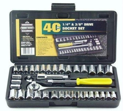 Socket 40 Pcs Combination Socket Toolkit (Set of 40),Silver