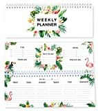 Local & Urban Flamingo Tischkalender im Querformat ohne Datum, in Deutschland produziert: Wochenkalender verwendbar als Kalender 2019/2020, Terminplaner, Familienkalender