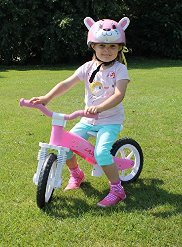 This bike is fun for toddlers and it looks great. It is strong, lightweight and easy to steer. An adjustable seat is a handy feature and its benefits cannot be overlooked. The bike is pretty much within anybody's budget and it is available in two versions for boys and girls, respectively. The particular bike we've reviewed here is the best balance bike for 2 year old girl because it is small enough for her and she will still continue to use it as she grows.