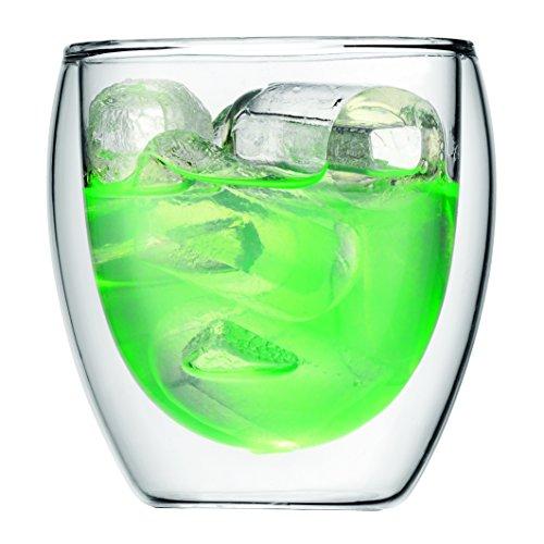 Bodum Pavina - Set de 6 vasos térmicos, 0,08 l, cristal borosilicato, transparentes 3