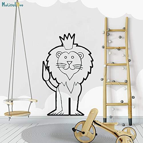 zhuziji Adesivo murale Royal Lion Tipo e Decalcomanie dignitosa Decorazione Domestica per Bambini...