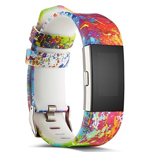 Charge 2 Cinturino, BarRan Braccialetto Morbido Sportivo di Ricambio in Silicone per Fitbit Charge2