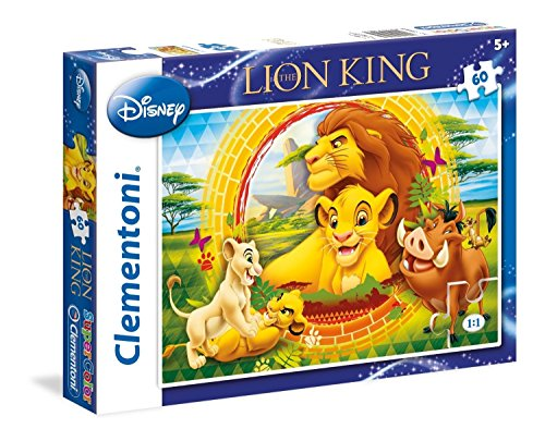 Clementoni - 26923 - Supercolor Puzzle - The Lion King, The circle of life - 60 Pezzi - Disney