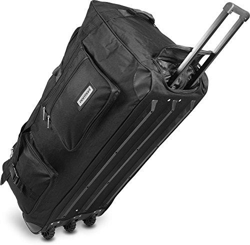normani Reisetasche Jumbo Big-Travel mit Rollen riesige XXL V4 5. Generation Schwarz / 150 Liter