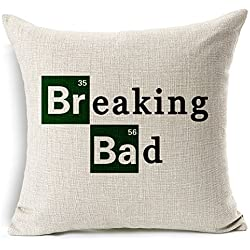 "SilkCrane Funda de Coj'n, Breaking Bad Cotton Linen Decorative Throw Pillow Case Cushion Cover, 17.7"" x 17.7"""