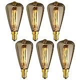 KJLARS 6x E14 Vintage Ampoules à...