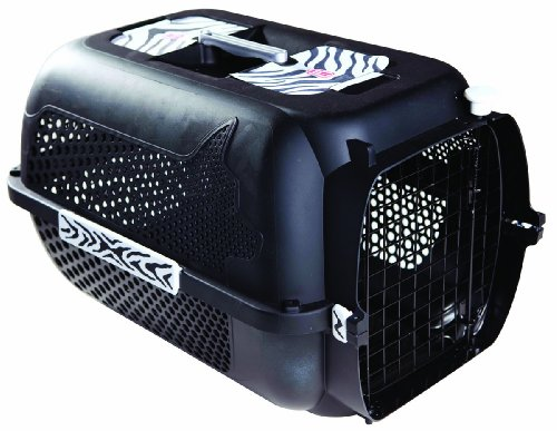 Catit/Dogit Voyageur - Transport铆n para Gatos/Perros, tama帽o Mediano, 56 x 37 x 30 cm, dise帽o de Tigre Negro