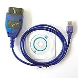 hr-tool® Interfaz de cable de diagnóstico USB KKL 409.1 OBD2 OBD-II...