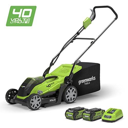 Greenworks 40V Cordless Lawn Mower 35cm (14