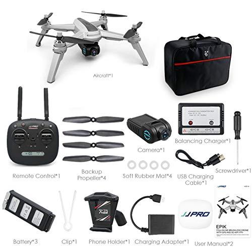 Ballylelly Per JJPRO X5 RC Drone Quadcopter 1080P 5G WiFi FPV Aereo Aereo Posizionamento GPS Altitudine Tenere Senza Testa Un Tasto Ritorno Senza spazzole