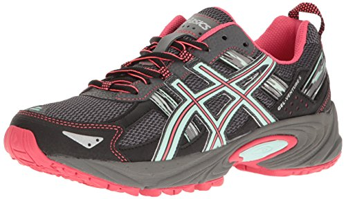 ASICS Women's Gel-Venture 5 Trail Runner, Carbon/Diva Pink/Bay, 11 M US