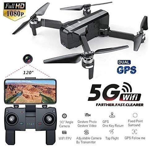 Cherish Sjrc F11 GPS 5G Wi-Fi FPV con 1080P Fotocamera 25mins Volo Tempo senza Spazzole Selfie RC Drone Quadcopter - Nero