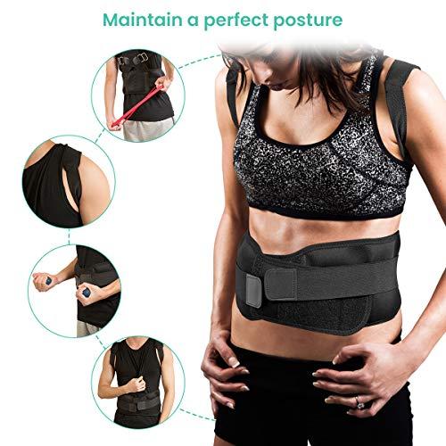 Charminer Haltungstrainer Geradehalter zur Haltungskorrektur Rückentrainer Schulter Rückenstütze