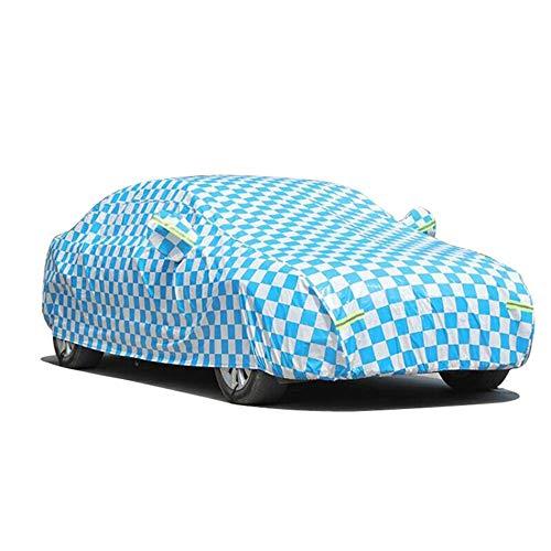 HRFHLHY Plaid Nero e Blu Coperta di Macchina Panno di Oxford Compatibile con Volkswagen,Blu,Bora