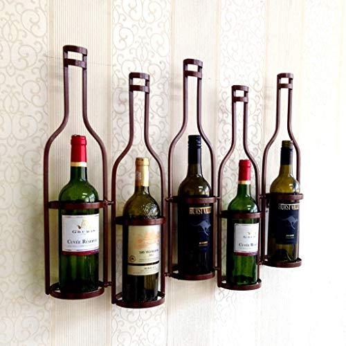 LPZ Cantinetta da Parete in Metallo portabottiglie da Vino in 5 vasche da Vino Robusto e indossabile...