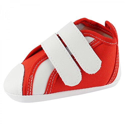 Scarpe Bambino Scarpe Per Gattonare Molto Bella Scarpe Bimbo Giovane Ragazza BS1274 - rosso, 12cm