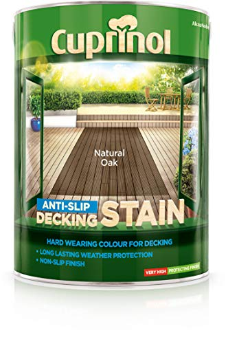 Do you need wood treatment product that offers an anti-slip finish? The Cuprinol 5122409 Anti-Slip Decking Stain Exterior Woodcare would work just right. Offering protection all through the four seasons, the decking paint product will give your deck a refreshed look.