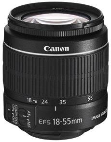 Canon EF-S 18-55 3.5-5.6 IS II - Objetivo para Canon (apertura f/3.5-5.6, zoom óptico 3x,estabilizador óptico), Negro