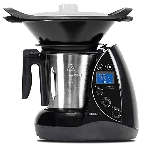 Robot de cuisine 3,3 litres 22 fonctions 12 vitesses 120 ºC minuteur 60 minutes et cuiseur vapeur, accessoires et livre de recettes IronMix de Cecotec