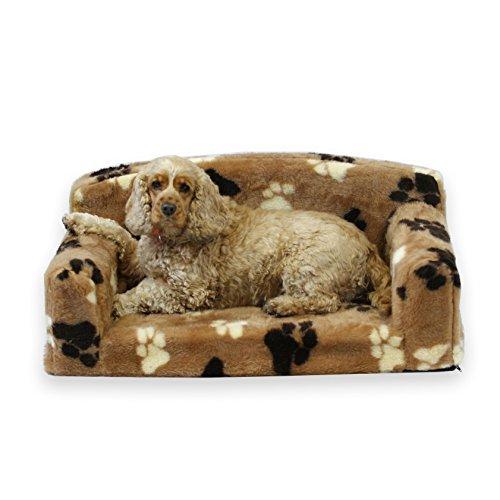 Pelliccia Paws Pet divano in finta pelliccia-. Nice Pet bordatura. Molto morbido letto per cani....