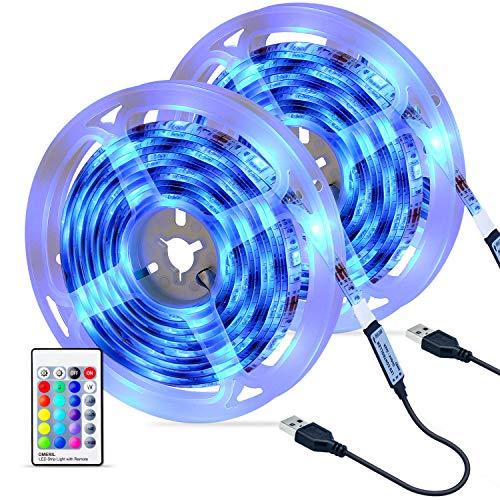 Striscia LED, OMERIL 6M 180 LED Luci Striscia RGB 5050 con Telecomando RF, 16 Colori e 4 Modalità,...