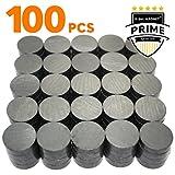 X-bet MAGNET  - Imanes industriales de cerámica - Disco redondo de 18 mm - Imanes de ferrite Masa para la artesianias, ciencias y aficiones – 100 piezas en caja!