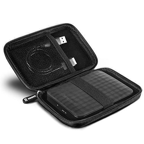 Duronic HDC2 - Custodia EVA per hard disk portatile esterno, compatibile con WD/western...