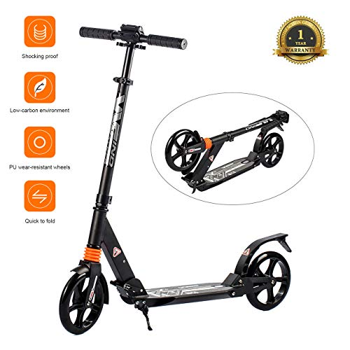 WINDWALKER K1 Monopattino a spinta Scooter Pieghevole per Adulti e Bambini (Inferiori a 100kg)...