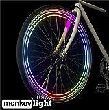 MonkeyLectric Unisex's M204 Bike Wheel Light, Multi-Colour, Small