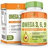 Omega 3 6 9-1000mg Omega-3 Fish Oil - with Flaxseed Oil, Sunflower Oil & Vitamin E - High Strength EPA DHA for Women and Men - 120 Capsules (2 Month Supply) by Earths Design