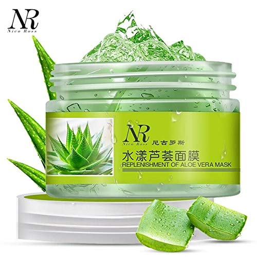 World Beauty's New NR Aloe Vera Gel Moisturizing Lotion Facial Cream Perfectly Nourish Lock Water rich in aloe essence 2018 Anne