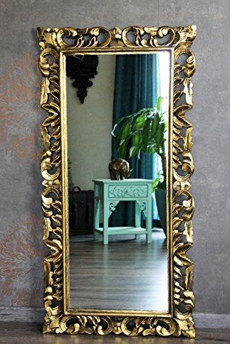 Naturesco Eleganter Barockspiegel Wandspiegel Rokoko massiv Holz Gold antik 120cm x 60cm