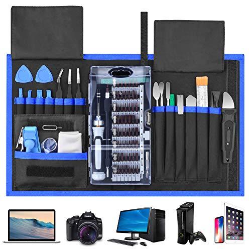 Fujiway Schraubendreher Set 87 in 1 Magnetischer Präzisions-Schraubendreher-Satz Werkzeug Reparatur-Set für Smartphones Tablets, PCs, Konsolen, Kameras, Uhren, Brillen,Modellbau