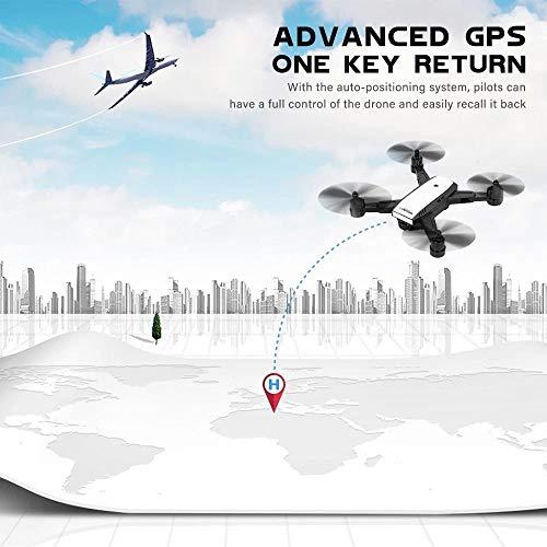 LM Drone Drones et caméras WiFi Quadcopter et 1080P caméra vidéo en Direct Hauteur Pliable Garder Mode sans tête GPS Retour Automatique 5