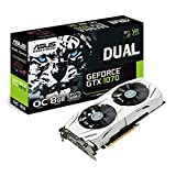 ASUS DUAL-GTX1070-O8G - Tarjeta gráfica (Dual, NVIDIA GeForce GTX 1070, 8 GB, GDDR5, HDMI, DVI, DP) Color Blanco