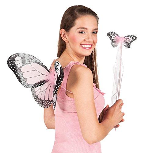 Boland 52856 - Disfraz Conjunto de la mariposa, alas y varita