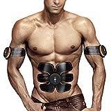 Electroestimulador Abdominales Cinturon, EMS Estimulador Muscular Pierna Brazo de Abdominales Muscular Entrenamiento Inteligente Usable Para Hombres y Mujeres