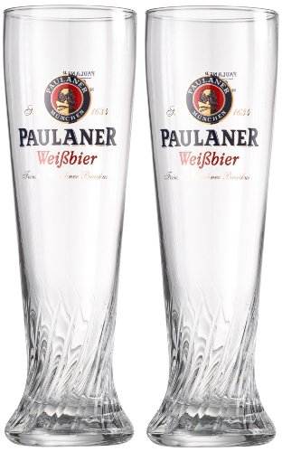 Keine Angabe Paulaner 690743 - Set di 2 bicchieri da birra chiara, 0,5 l