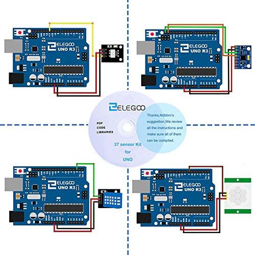 512u04zIpML - ELEGOO Actualizado 37-en-1 Kit de Módulos de Sensores con Tutorial Compatible con R3 Mega2560 Nano Raspberry