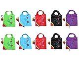 Switty fragola riutilizzabili pieghevoli shopping Eco borse con borsa Tracolla