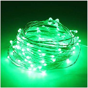 5M(16,4ft) 50 LED Cuivre fil de cuivre LED Guirlande lumineuse étanche étoiles Lumière Chaînes alimenté par batterie pour le Festival de Noël