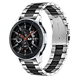 TRUMiRR Galaxy Watch 46mm / Gear S3 Bandas, 22mm Sólido de Acero Inoxidable Metal Band Correa de liberación rápida para Samsung Galaxy Watch 46mm, Gear S3 Classic Frontier