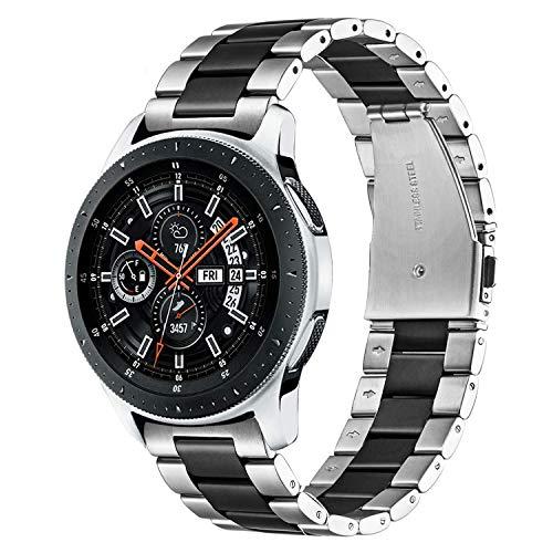 TRUMiRR Galaxy Watch 46mm / Gear S3 Bands, Cinturino a sgancio rapido in Acciaio Inossidabile 22mm Cinturino a sgancio rapido per Samsung Galaxy Watch 46mm, Gear S3 Classic Frontier