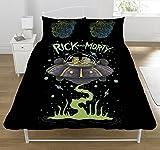 Rick e Morty UFO Set Copripiumino, Poliestere, Multicolore, Matrimoniale