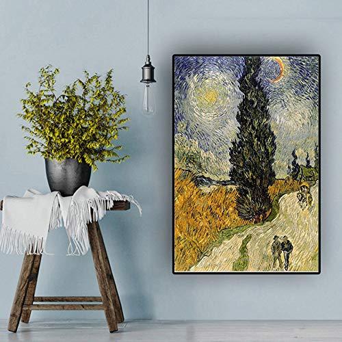 RTCKF Famoso Dipinto di Van Gogh Berber Road Riproduzione Riproduzione Poster e Incisione Soggiorno...