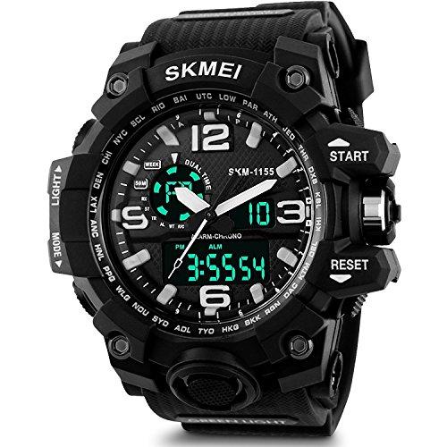 SKMEI Analog-Digital Black Dial Men's Watch - AD1155 (BK White)